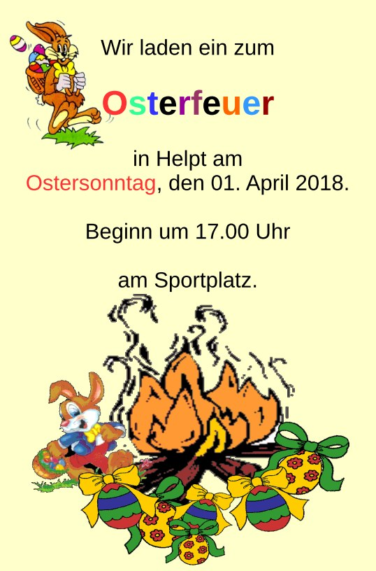 Osterfeuer in Helpt
