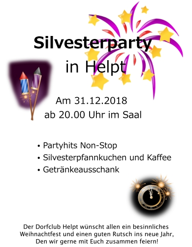 Silvesterparty Helpt